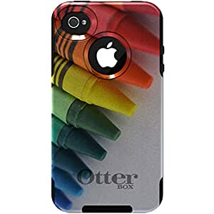 Custom OtterBox Commuter Series Case for Apple iPhone 4 4S - Rainbow Color Crayons