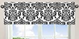 Black and White Isabella Girls Window Valance