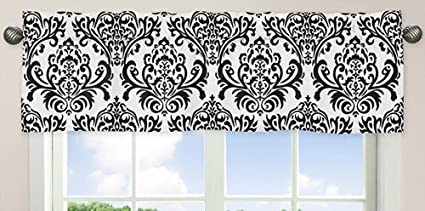 Black and White Isabella Girls Window Valance