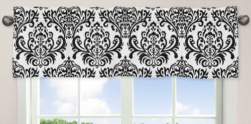 Sweet Jojo Designs Black and White Isabella Girls Window Val