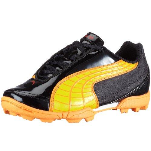 Puma V5.10TT Jr 101832, unisex–Niños Sport–Zapatillas de Fútbol blau (darknavy-fluopeach-pumared06)