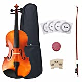 Crescent 4/4 Full Size Student Violin Starter Kit(Bow, Rosin, Case, Music Stand, Shoulder rest, E-Tuner
