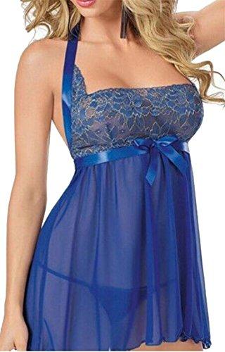 Della Cami Sexy Sleeveless Blu through Filato Moda See Vestito Donne Jaycargogo Netto aXnqO0
