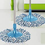 Creazy® New Replacement 360 Rotating Head Easy Magic Microfiber Spinning Floor Mop Head