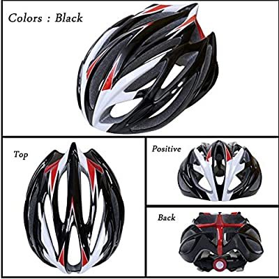 LXFTK Cycling Bicycle Helmet, Summer Men and Women Mountain Bike Helmet, Road Outdoor Protection Riding Helmet-Black : Sports & Outdoors