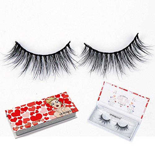 High End Makeup 3D Mink Lashes 100% Cruelty-Free Siberian Mink Fur Fake Lashes Fully Handmade False Eyelashes Natural Eyelash or Dramatic Lashes Both Available