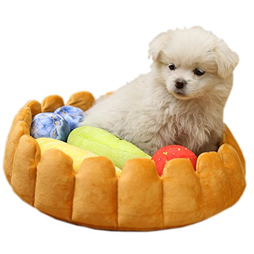 S-Lifeeling Fashion Pet Cushion Bed Detachable Updated Version Winter Plush Nest Kennel Lovely Tart Warm Comfortable Extended Dog Mat Pad Cat Mat (The Best Sofa Bed Australia)