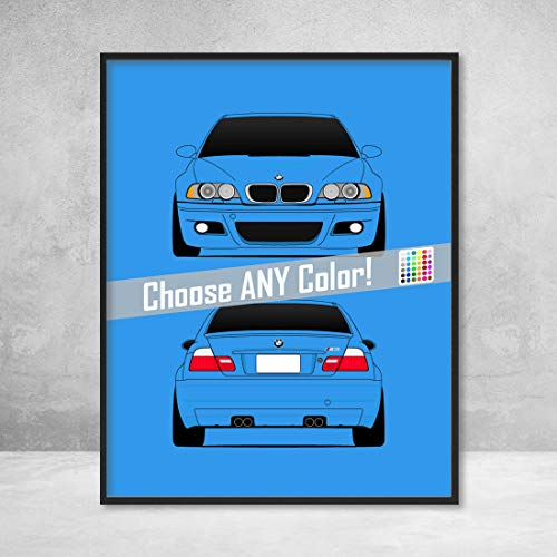 BMW M3 E46 3 Series (2000-2006) Front and Rear View for sale  Delivered anywhere in Canada