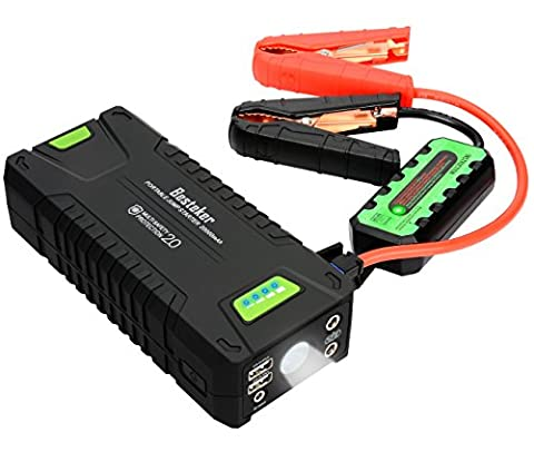 Jump Starter, Besteker 1000A Peak Portable Car Jump Starter 20000mAh 12V Battery Booster and Phone Power Bank Charger with LED Flashlight SOS