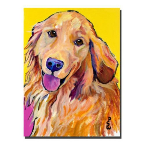 Molly by Pat Saunders-White,  dog Canvas Wall Art - Doggy wall decor