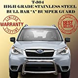 Wynntech Front Bull Bar 'A' Bumper Guard Protector Stainless Steel for 2014-2016 Subaru Forester