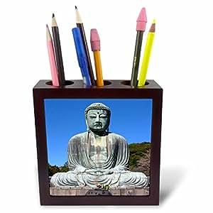 3dRose ph _ 4311_ 1azulejos de Buda soporte para bolígrafos, 12,7cm