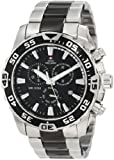 Swiss Precimax Men's SP12149 Formula-7 Pro Black Dial with Two-Tone Stainless Steel Band Watch