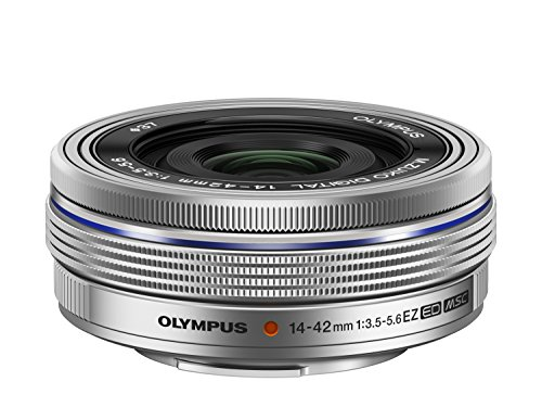 Olympus 14-42mm f3.5-5.6 EZ Interchangeable Lens for Olympus/Panasonic Micro 4/3 Digital Camera (Silver)  – International Version (No Warranty)