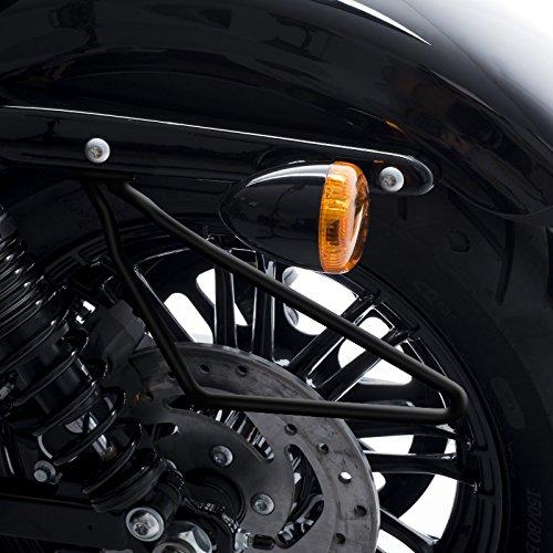 FLSTC FLSTN schwarz FXSTB VRSCD VRSCDX // Special Night Train FLSTS Springer Night-Rod Satteltaschenhalter Universal Craftride f/ür Harley Davidson Heritage Softail Classic // Special