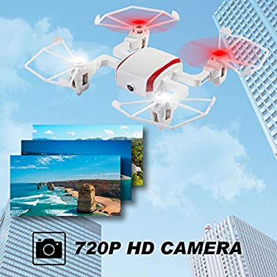 Tech RC Mini Drone with 5.8G LCD Screen Real Time Transmitter, 720P HD Camera Quadcopter FPV Live Video & 4G SD Card with Headless Mode, Altitude Hold & Rechargeable Battery by tech rc