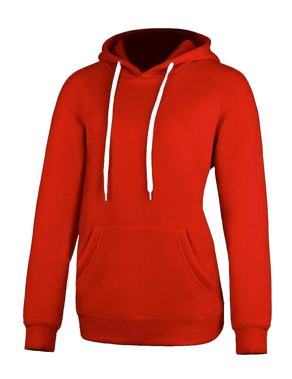 Chenghe Women's Blend Fleece Jersey Hoodie Sweatshirt Pocket Prime WJN066 CHWJN066