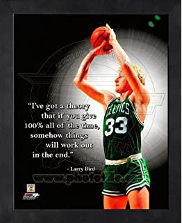 65f2e923e344 Amazon.com   Larry Bird Boston Celtics (Dribbling) Framed 11x14