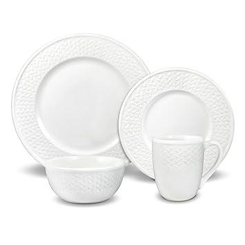 Pfaltzgraff Basketweave 32 Piece Dinnerware Set Service for 8  sc 1 st  Amazon.com & Amazon.com | Pfaltzgraff Basketweave 32 Piece Dinnerware Set ...