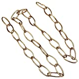 TOOGOO(R) 1M Heavy Duty Chain For Vintage Chandelier Hanging Lamp,French Gold