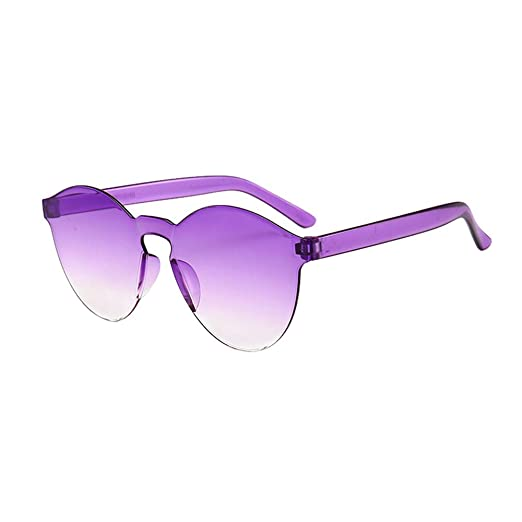 420fe5bdce09 Image Unavailable. Image not available for. Color: Lookatool LLC Women Men  Fashion Clear Retro Sunglasses Outdoor Frameless Eyewear Glasses