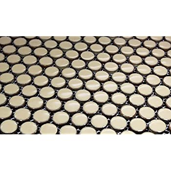 Penny Round Tile Arctic White Porcelain Mosaic Matte Look