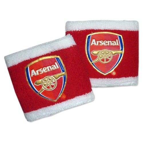 2 Pack Two Tone Arsenal Football Club Wristbands Sweat Bands Official Fan Gift
