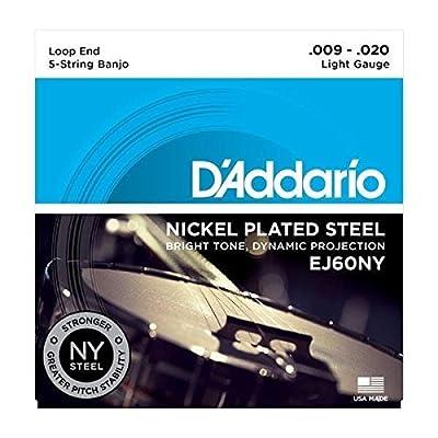 D'Addario EJ60NY NY Steel Banjo Strings, Light