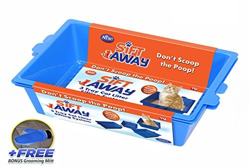 Sift Away Deluxe - Self Sifting Litter Box - Includes Sift Away System and Deluxe Splatter Shield by Sift Away