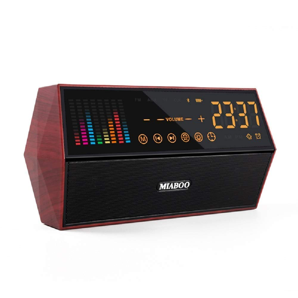 VINCEN Bluetoothスピーカー ホームミニカードミラー サウンド 表示時間機能 TF FM AUX 充電 ラジオ コール リモートコントロール スマートスピーカー   B07JH429QP