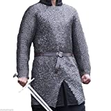 X-LARGE CHAIN MAIL SHIRT MEDIEVAL ARMOR 10 mm Flat Riveted with Washer