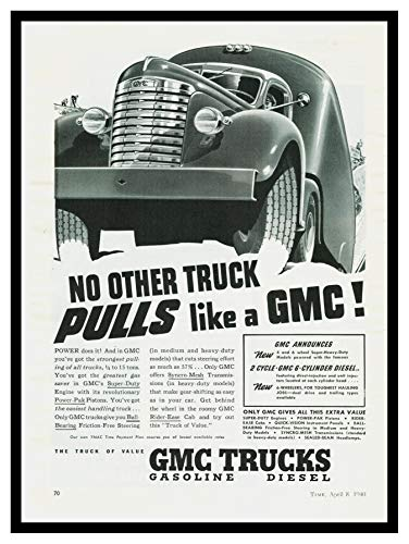 (Iron Ons 8 x 10 Photo 1940 Gmc Truck Ad Vintage Old Advertising Campaign Ads)
