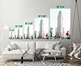 the new revolution flat irons - Flatiron Building New York City Art Print Wall Decor Unstretched - Unframed Canvas 8 x 12 - XS