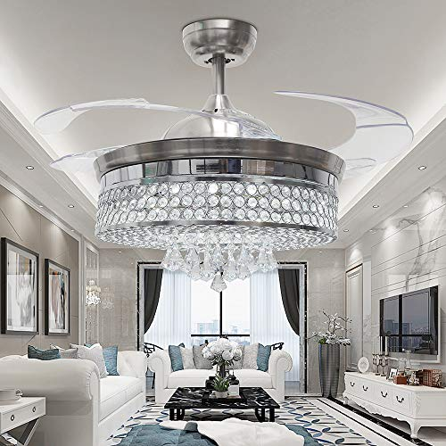 Amazon.com: RS Lighting Low Profile Ceiling Fan Chandelier ...