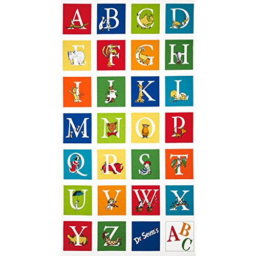 - Robert Kaufman Dr. Seuss ABC 24in Panel Adventure Fabric,