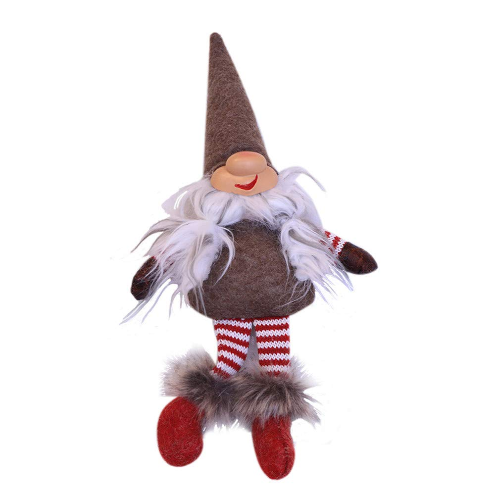 Christmas Tree Decorations, Jchen(TM) Happy Year Christmas Decor Christmas Santa Claus Doll Toy Christmas Table Ornaments Decoration Home (Gray)