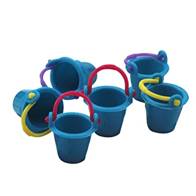 Anniston Dollhouse Furniture, 6Pcs Miniature Bucket Pretend Play Toy Dollhouse Decoration Simulation Model House Playset Set for Toddlers Girls and Boys, Blue: Toys & Games