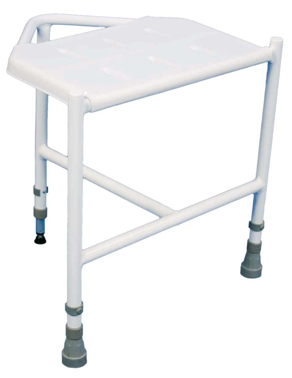 Aidapt Penbury Height Adjustable Corner Shower Stool (Eligible for ...