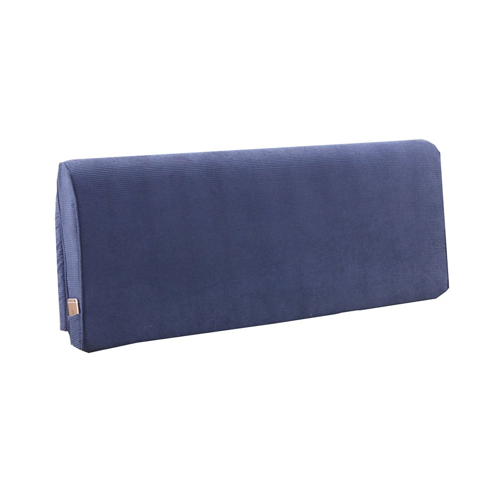 ベッドサイドソフトパック厚いスポンジクッショントライアングルピローと長い背もたれの取り外し可能と洗えるウエストピロー/レディングピロー (色 : Dark-blue, サイズ さいず : 150 * 60 * 10cm) B07DK5SBR5 150*60*10cm|Dark-blue Dark-blue 150*60*10cm