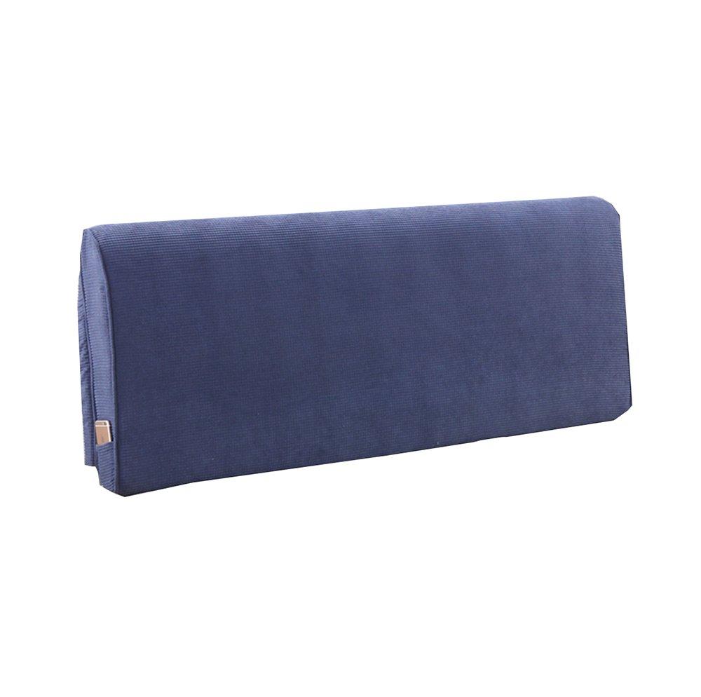 10cm) * (色 Blue * Blue, さいず サイズ : ベッドサイドソフトパック厚いスポンジクッショントライアングルピローと長い背もたれの取り外し可能と洗えるウエストピロー/レディングピロー 200 60 200*60*10cm B07DKK5BM4 :