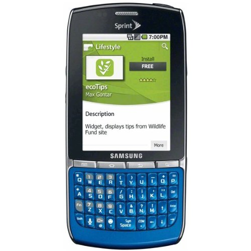 Samsung Replenish SPH-M580 Blue No Contract Sprint Cell Phone (Battery Samsung Replenish)