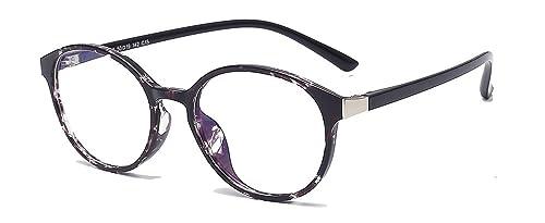ALWAYSUV Vintage clásico TR90 marco redondo TR90 marco ligero claro lente gafas de moda gafas