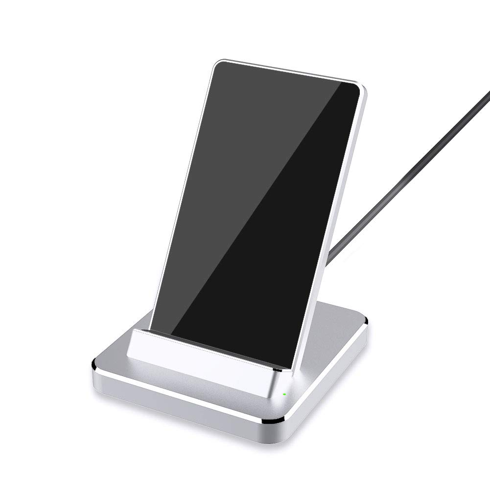 Yootech Aluminum Wireless Charger, 10W Qi-Certified Wireless Charging Stand, Compatible with iPhone 11/11 Pro/11 Pro Max/Xs MAX/XR/XS/X/8/8 Plus,Galaxy Note 10/Note 10 Plus/S10 Plus(No AC Adapter)