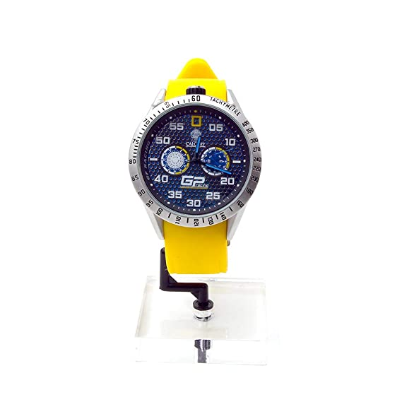 Relojes Calgary, GP Racing Amarillo, analogico Correa Amarilla, acuatico 5 ATM