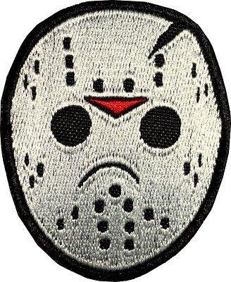 PARCHE BORDADO Jason Voorhees máscara de hockey hierro bordado en la insignia de la película de