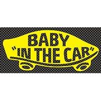 ステッカータウン VANS風 BABY IN THE CAR ベビーインカー B イエロー