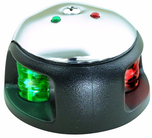 Attwood LED 2-Mile Deck Mount Navigation Bow Light, Stainless Steel (Navigation Lights)
