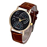 Wensltd Clearance Sale! Men's Business Leather Band Quartz Watch