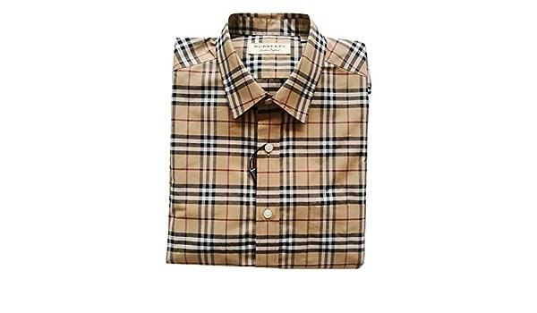 Burberry Camisa de manga larga de algodón para hombre ...