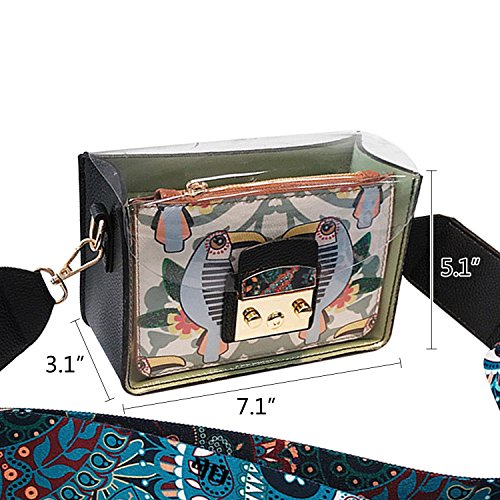Bandoulière Imperméable Main Sac en NOTAG Transparent Pochette PVC De sac à Femmes Plage 1 2 Sac Vert 6xPPwEAq1